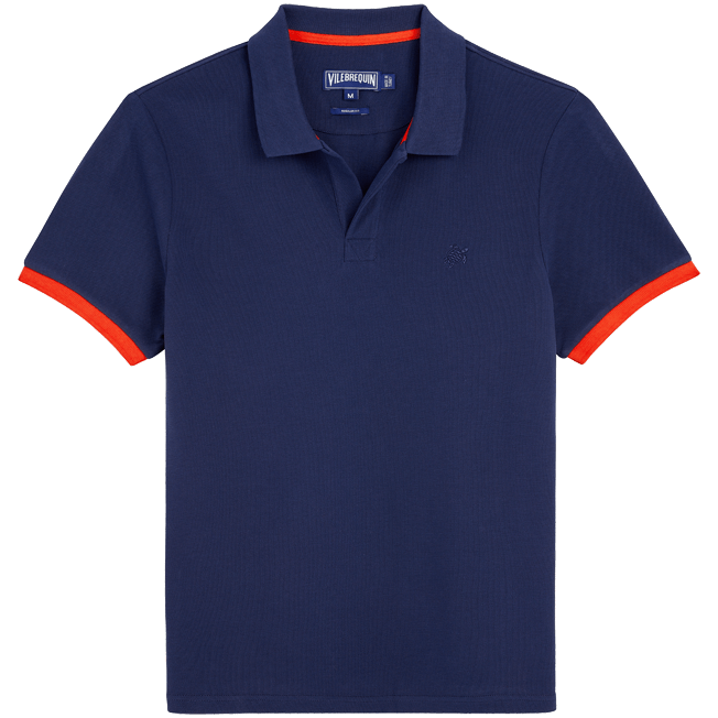 Vilebrequin - Men Cotton Pique Polo Shirt Solid - 1