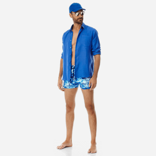 Men Short classic Printed - Men Short and Fitted Stretch Swimwear Splash, Neptune blue supp2