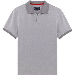 Men Others Solid - Men Cotton Pique Polo shirt Solid, Heather grey front