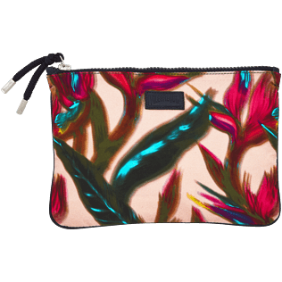 Others Printed - Zipped Beach pouch Paradise 3D, Nude front