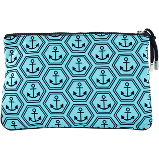 Others Printed - Beach Pouch Ancre De Chine, Tropezian blue back