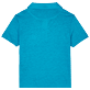 Boys Others Solid - Linen Boys Polo Shirt Solid, Light azure back