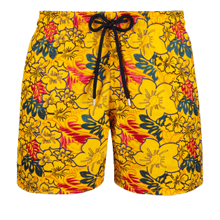 Men Embroidered Printed - Men Embroidered swimtrunks Porto Rico - Limited Edition, Mango front