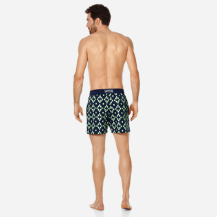 Men Stretch classic Printed - Men Swimwear Glow in the dark Stretch Squad Turtles, Navy backworn