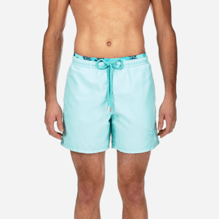Men Classic / Moorea Solid - Starlettes et Turtles Bicolor Swim shorts, Lagoon supp1