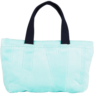 Bags Solid - Beach Pouch in Terry Cloth Solid Jacquard, Lagoon front