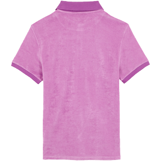 Men Others Solid - Men Terry cloth Polo Shirt Solid, Pink berries back