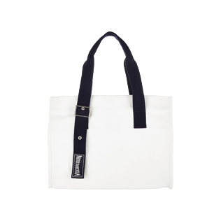 Bags Solid - Small Solid Cotton beach bag, White front