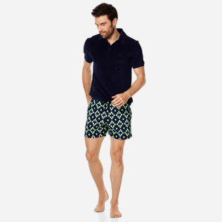 Men Stretch classic Printed - Men Swimwear Glow in the dark Stretch Squad Turtles, Navy supp2