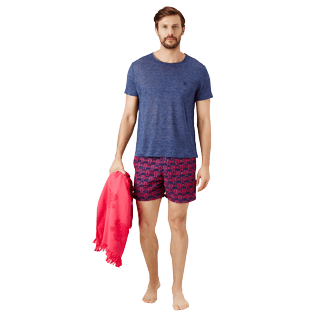 Men Classic Embroidered - Men Swim Trunks Embroidered Hippocampes - Limited Edition, Midnight blue supp2