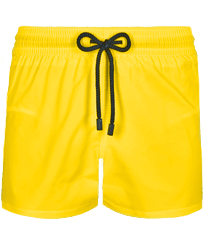 Men Short classic Solid - Men Swimwear Short and Fitted Stretch Solid, Buttercup yellow front