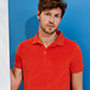 Men Others Solid - Men Terry cloth Polo Shirt Solid, Medlar frontworn