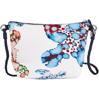 Autros Estampado - Bolsa de playa para llevar al hombro con estampado Watercolor Turtles, Blanco back