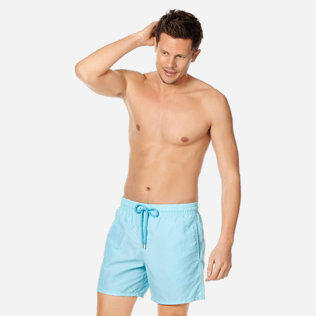 Men Classic Solid - Men swimtrunks Solid, Acqua frontworn
