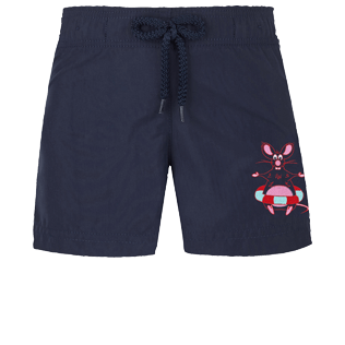 Girls Others Embroidered - Girls Swim Short The Year Of The Rat, Navy front