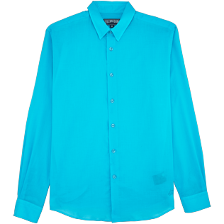 Men Others Solid - Unisex Cotton Shirt Solid, Azure front