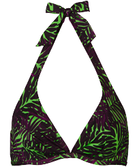 Women Underwire Printed - Women Underwire Bikini Top Madrague, Grass green front