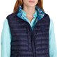 Others Printed - Unisex Sleeveless Down Jacket Herringbones Turtles, Navy supp5
