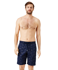 Homme CLASSIQUE LONG Imprimé - Maillot de bain homme Long Stretch Diamond Turtles, Bleu marine frontworn