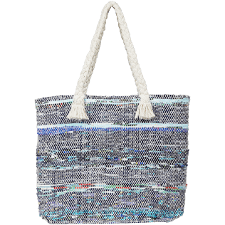 Others Printed - Large Beach Bag Eco-friendly, Blue back