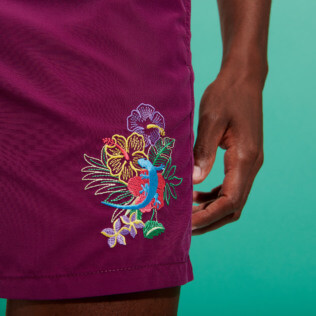 Men Classic Embroidered - Men Swimwear Placed embroidery Les Geckos, Kerala supp2