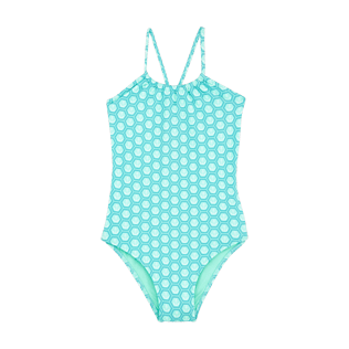 Girls Others Printed - Girls one piece swimsuit Ancre De Chine, Mint front