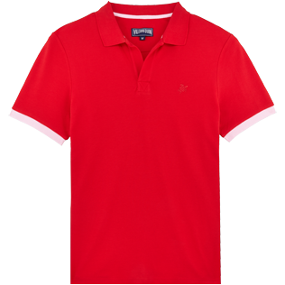 Men Others Solid - Men Cotton Pique Polo Shirt Solid, Red polish front