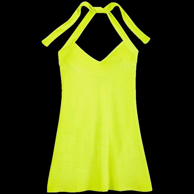 Vilebrequin - Vestido en tejido terry con estampado liso para anudar alrededor del cuello para mujer - 1