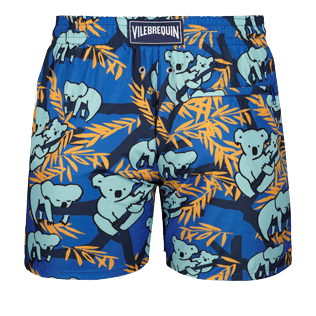 Men Ultra-light classique Printed - Men Ultra-Light and packable swimtrunks Sydney - Web Exclusive, Sea blue back