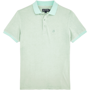 Men Others Solid - Men Terry Cloth Polo Shirt Solid, Opaline front