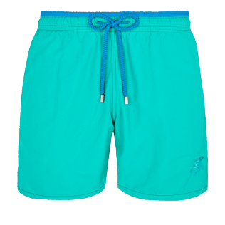 Men Classic Solid - Men Swimwear Solid Bicolor, Veronese green front