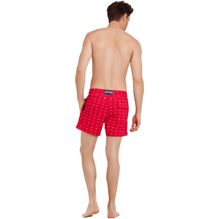 Uomo Classico stretch Stampato - Costume da bagno stretch uomo Crabs, Medicis red backworn