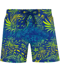 Boys Others Printed - Boys Swimwear Stretch Evening Birds, Batik blue front
