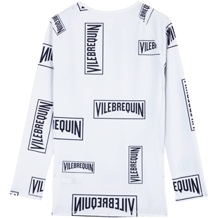 Hombre Autros Estampado - Men Rashguard Vilebrequin labels, Blanco back