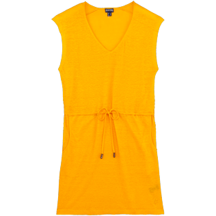 Women Others Solid - Women Short Linen Dress Solid, Mango front