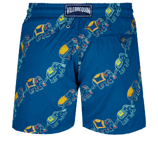 Men Classic Embroidered - Men Swimwear Embroidered Elephants Dance - Limited Edition, Goa back