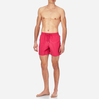 Men Classic Solid - Men swimtrunks Solid, Shocking pink frontworn