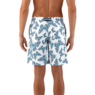 Men Long Printed - Butterflies Superflex long cut Swim shorts, Azure supp3