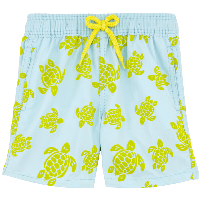 Vilebrequin - Flocked Turtle Print Swim Shorts - 1