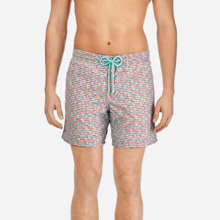 Men Classic Printed - Men Swimtrunks Modernist Fish, Lagoon supp1