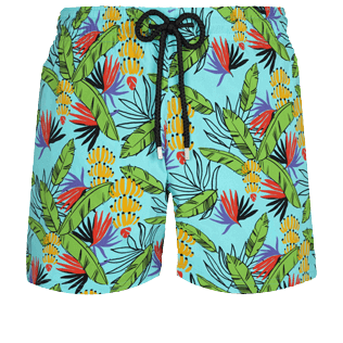 男款 Stretch classic 印制 - Men Swimwear Stretch Go Bananas, Lazulii blue front