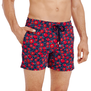 Men Stretch classic Printed - Men Swimtrunks Stretch Crackers, Navy supp1