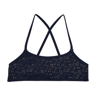 Girls Tops Lazercut - Micro Ronde des Tortues Bandeau Top, Navy front