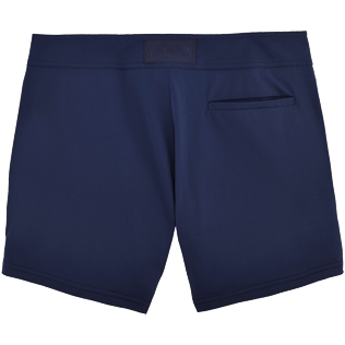 Men Short Solid - Smoking Tuxedo fitted Swim shorts, Navy back