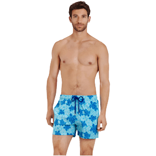 Men Stretch classic Printed - Men Swim Trunks Stretch Tortues Hawaï - Web Exclusive, Celestial frontworn