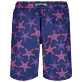 Men Long classic Printed - Men Swim Trunks Long Starfish Dance, Sapphire back