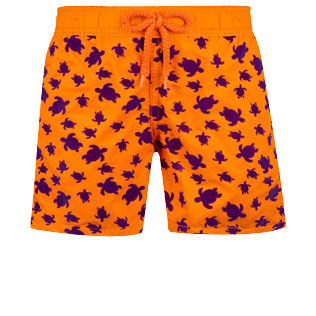 Boys Others Printed - Boys Swimwear Floked Micro ronde des tortues, Safran front