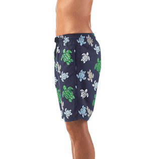 Men Long Printed - Multicolor Turtles Long Cut Swim shorts, Navy supp1