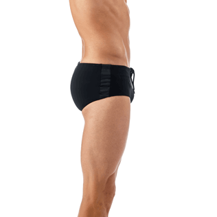 Men Short, Fitted Solid - Tuxedo Tuxedo swim briefs, Black supp3