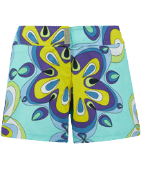 Women Others Printed - Women Swim Short Kaleidoscope, Lagoon front